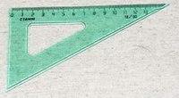 Треугольник, 14 см, 30 градусов, флуоресцентный, прозрачный, Стамм