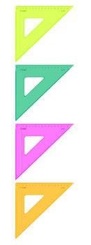 Треугольник, 16 см, 45 градусов, флуоресцентный, прозрачный, Стамм