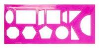 Трафарет геометрических фигур, 12 элементов, флуоресцентный, прозрачный, Стамм