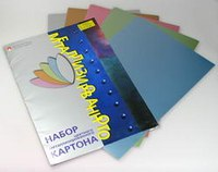 Картон цветной, а4, 10 листов, 5 цветов, металлик, Альт