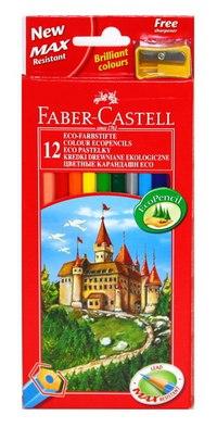 """Карандаши """"замок"""", 12 цветов + точилка, Faber-Castell"""