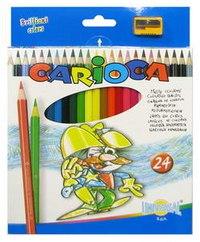 Карандаши carioca, 24 цвета + точилка, Universal
