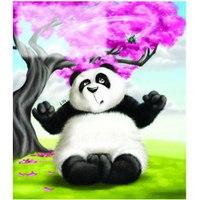 Тетрадь. веселая панда, 12 листов, крупная клетка, ПЗБф