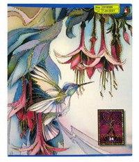"""Тетрадь """"райские цветы"""", 24 листа, клетка, Альт"""