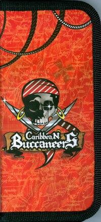 Пенал. пираты, 1 отделение, 9*19 см, Оникс (канцтовары)