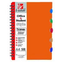Тетрадь с пластиковой обложкой, оранжевая, 120 листов, а4, Канц-Эксмо (Listoff, Unnika Land)