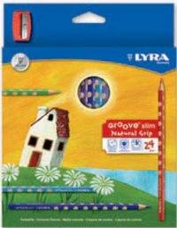 "Карандаши цветные "" groove slim"", 24 цвета + точилка, LYRA"