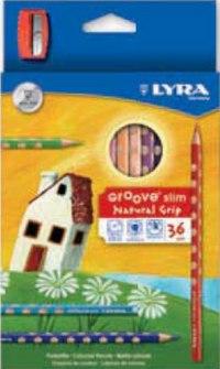 "Карандаши цветные "" groove slim"", 36 цветов + точилка, LYRA"