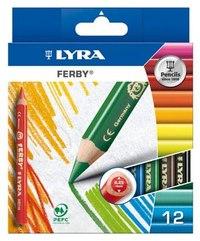 """Цветные карандаши """" ferby"""", 12 цветов, LYRA"""