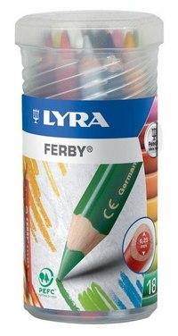 """Цветные карандаши """" ferby"""", 18 цветов, LYRA"""