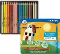 "Цветные карандаши "" superferby"", 18 цветов, LYRA"