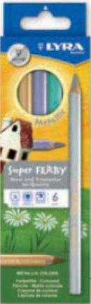"""Цветные карандаши """" superferby. metallic"""", 6 цветов, LYRA"""
