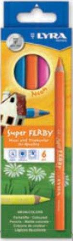 "Цветные карандаши "" superferby neon"", 6 цветов, LYRA"