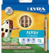 """Цветные карандаши """" ferby nature"""", 12 цветов, LYRA"""