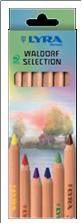 """Цветные карандаши """" super ferby nature waldorf selection"""", 6 цветов, LYRA"""