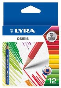 """Цветные карандаши """" osiris short"""", 12 цветов, LYRA"""