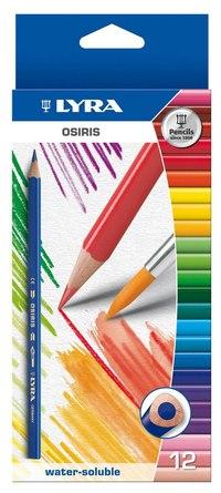 """Цветные карандаши """" osiris aquarell"""", 12 цветов, LYRA"""