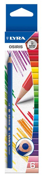 """Цветные карандаши """" osiris"""", 6 цветов, LYRA"""