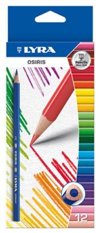 """Цветные карандаши """" osiris"""", 12 цветов, LYRA"""