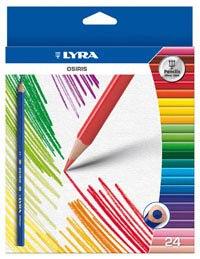"""Цветные карандаши """" osiris"""", 24 цвета, LYRA"""
