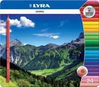 "Цветные карандаши "" osiris tri"", 24 цвета, LYRA"