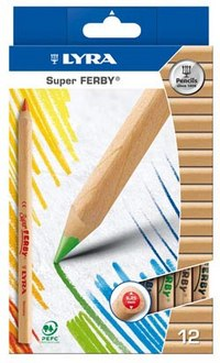 "Цветные карандаши "" superferby nature"", 12 цветов, LYRA"