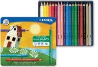 """Цветные карандаши """" color giants"""", 18 цветов, LYRA"""