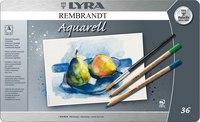"""Акварельные карандаши """" rembrandt aquarell"""", 36 цветов, LYRA"""
