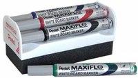 Набор маркеров для белой доски maxfilo, 4 цвета, Pentel