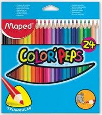 Цветные карандаши color peps, трехгранные, 24 цвета, Maped