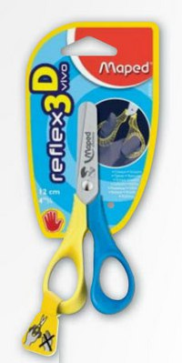 Ножницы reflex 3d vivo для левшей, 12 см, Maped