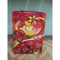 """Пакет подарочный бумажный """"цветы, сердечки"""", Beifa"""