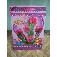 """Пакет подарочный бумажный """"цветы"""", Beifa"""
