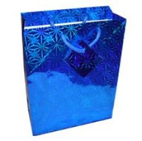 Пакет подарочный бумажный, голография, крупный рисунок, Miraculous