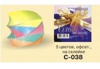 Блок 90х90х90 мм, 5 цветов, спираль, Ульяновский Дом печати