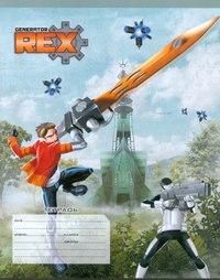 Тетрадь 18 листов, линейка, Generator Rex