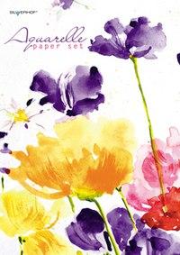 """Папка для акварели """"цветы"""", Silwerhof"""