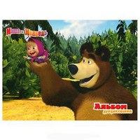 """Альбом для рисования """""""" 3. (40 листов), Маша и Медведь"""
