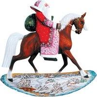 "Фигурка коллекционная ""дед мороз верхом на лошади"", Mister Christmas"