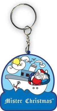 "Брелок ""дед мороз на пароходе"", Mister Christmas"