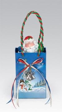 """Композиция """"подарочный пакет с дедом морозом"""", Mister Christmas"""