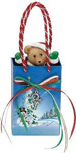 """Композиция """"подарочный пакет с мишкой"""", Mister Christmas"""