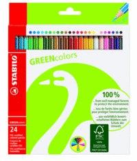 Набор цветных карандашей greencolors, 24 штуки, STABILO