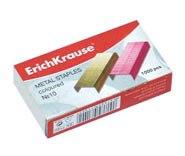 Скобы № 10, цветные, ErichKrause