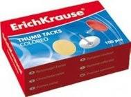 Кнопки цветные, 100 штук, ErichKrause