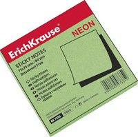Бумага с клеевым краем 75х75 мм, неон зеленая, ErichKrause