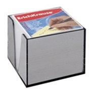 Блок для записей, 9х9х9, в пластиковом корпусе, белый, ErichKrause