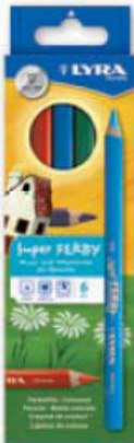 """Цветные карандаши """" super ferby"""", лакированные, 6 цветов, LYRA"""