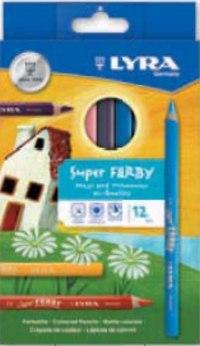 """Цветные карандаши """" super ferby"""", лакированные, 12 цветов, LYRA"""