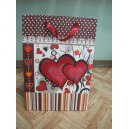 """Пакет подарочный бумажный """"сердечки"""", Beifa"""